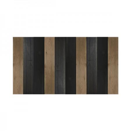 Cabeceira de madeira combinada de preta