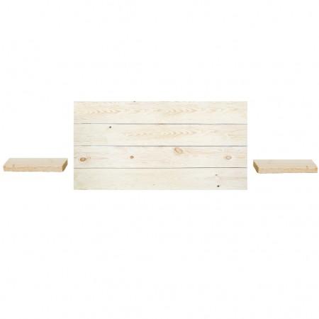 Pack de cabeceira horizontal e mesas Hak natural