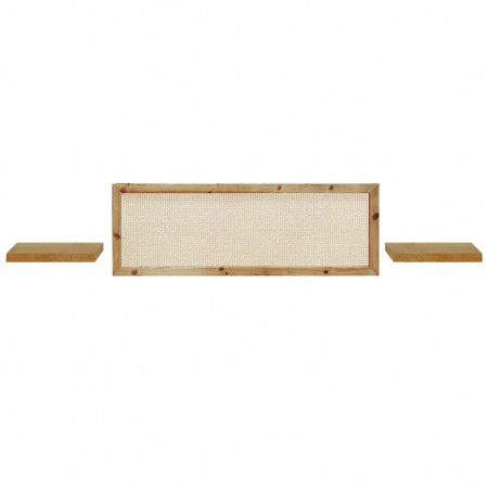 Pack composto de cabeceira horizontal e mesas Hak natural