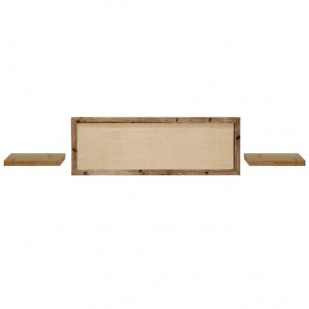 Pack composto de cabeceira Ellen Raffia e mesas Hak envelhecidas