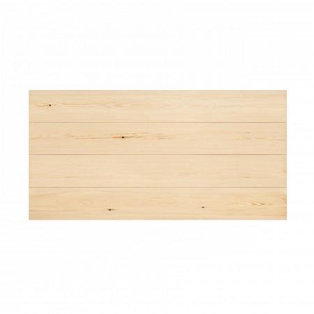 Cabeceira de madeira horizontal reta natural