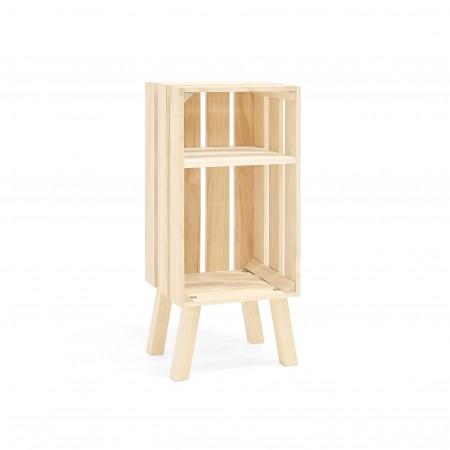 Mesa de cabeceira Box vertical natural