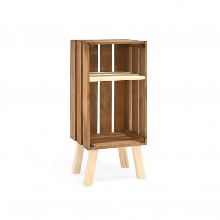 Mesa de cabeceira Box vertical envelhecida