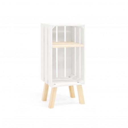Mesa de cabeceira Box vertical branca