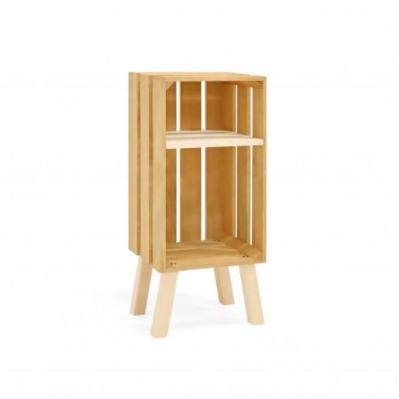 Mesa de cabeceira Box vertical olivo
