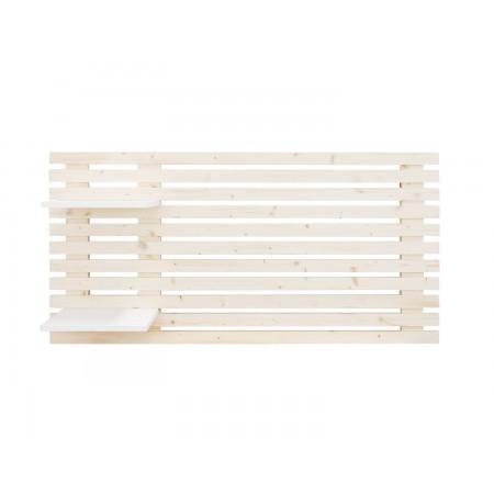 Cabeceira cama individual de lâminas de madeira