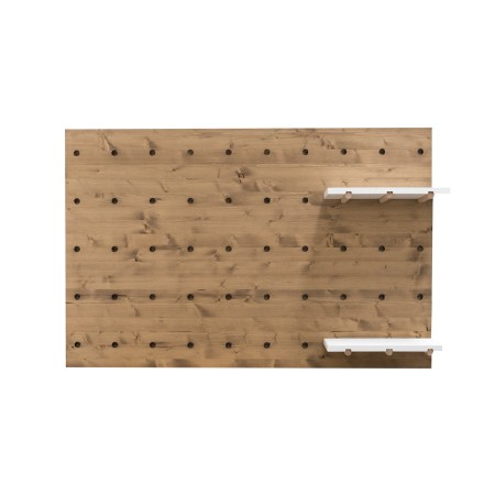 Cabecero individual de madera envejecida panel de accesorios