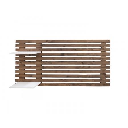 Cabeceira cama individual de lâminas de madeira envelhecida