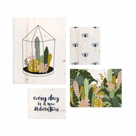 Pack de cuadros con motivos Botánicos