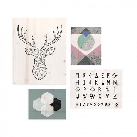 Pack de quadros com motivos nórdicos