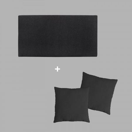 Pack tapizado liso negro