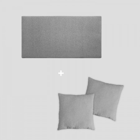 Pack tapizado liso gris