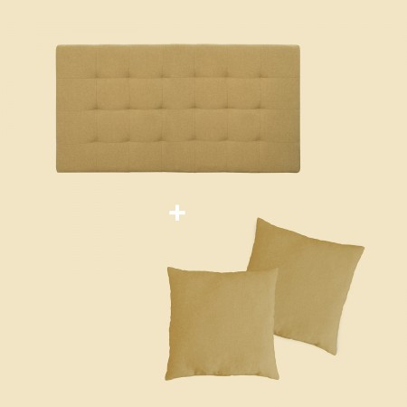 Pack tapizado pliegues mostaza
