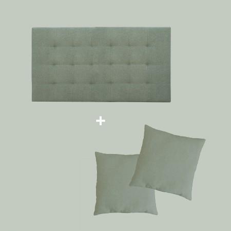 Pack tapizado pliegues verde