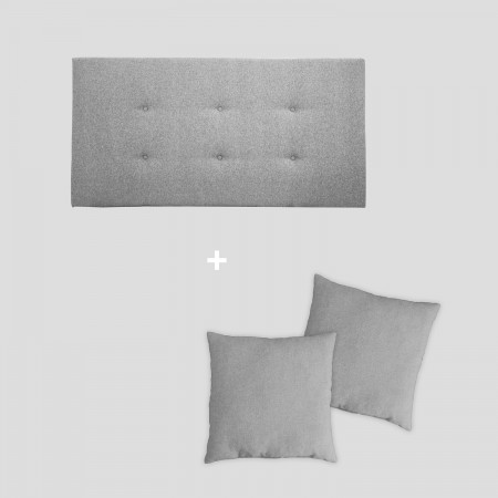 Pack tapizado botones gris
