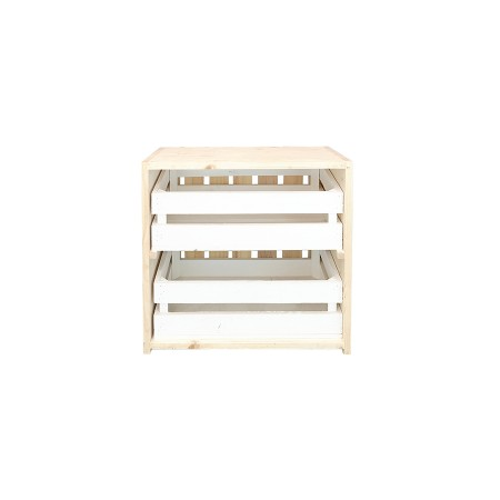 Mesa de cabeceira caixas natural e branca