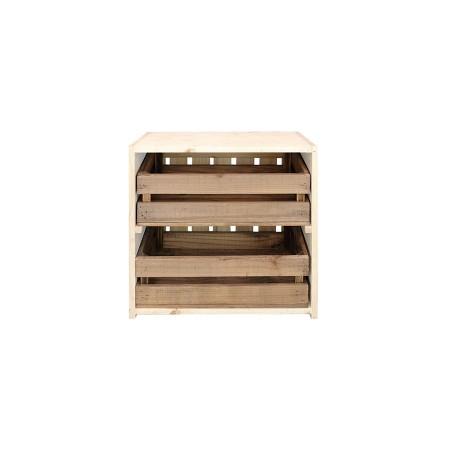 Mesa de cabeceira caixas natural e envelhecida