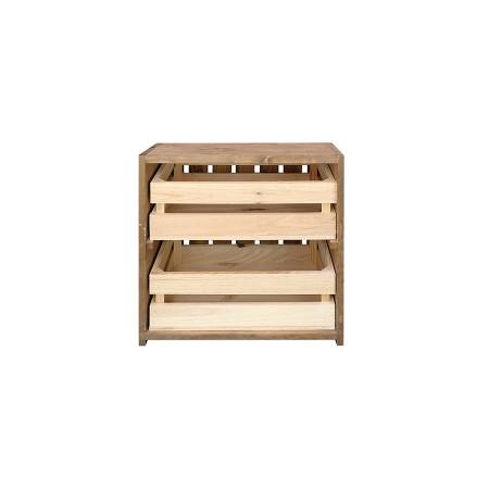 Mesa de cabeceira caixas envelhecida e natural
