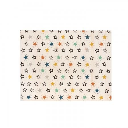 Cabeceira rectangular com estrelas