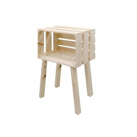 Mesa pequena caixa horizontal natural