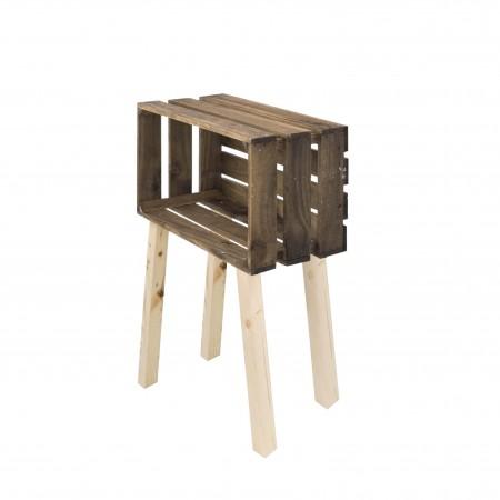 Mesa pequena caixa horizontal envelhecida