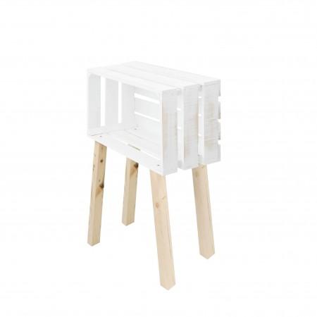 Mesa pequena caixa horizontal decapada