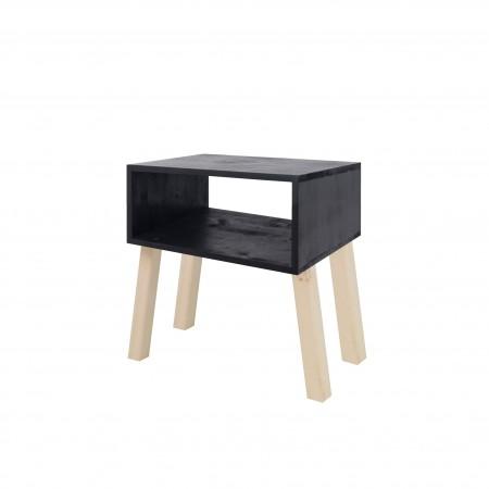 Mesa de cabeceira rectangular pintada de ardósia