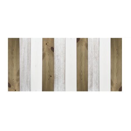 Cabeceira de madeira vintage combinada branca e envelhecida