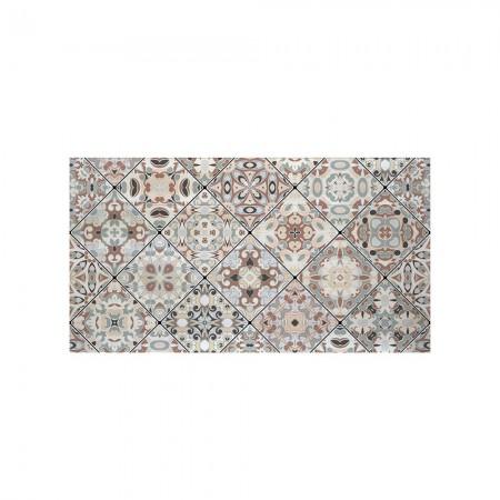 Cabeceira decapada mosaico vintage