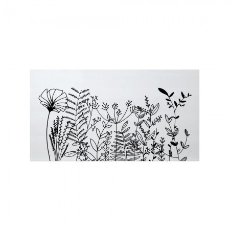 Cabeceira branca floral