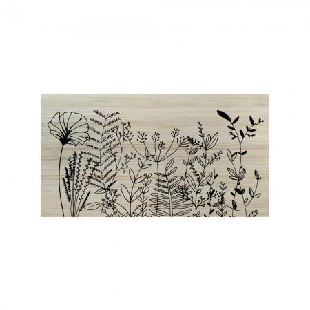 Cabecero blanco floral