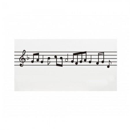 Cabeceira branca partitura musical