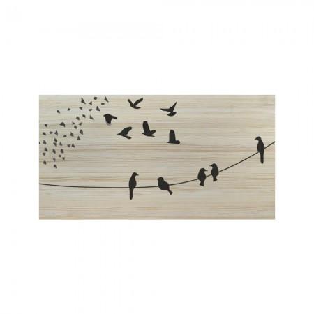 Cabeceira natural pássaros