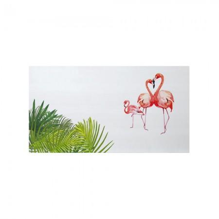 Cabeceira branca flamingos