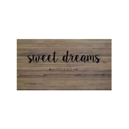 Cabeceira envelhecida sweet dreams