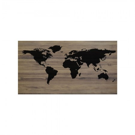 Cabeceira envelhecida mapa mundo