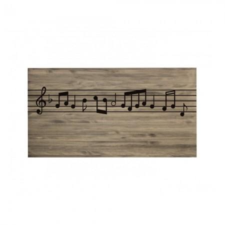 Cabeceira envelhecida partitura musical