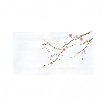 Cabeceira decapada flores japonesas