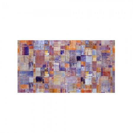 Cabeceira branca decapada pintura abstracta