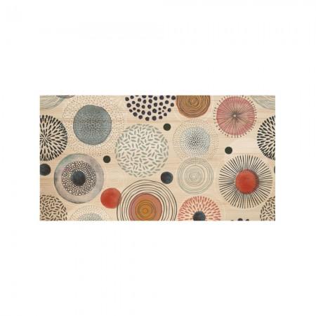 Cabeceira natural 'círculos abstratos multicoloridos'