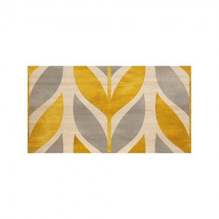 Cabeceira natural 'Yellow geometric wheat'