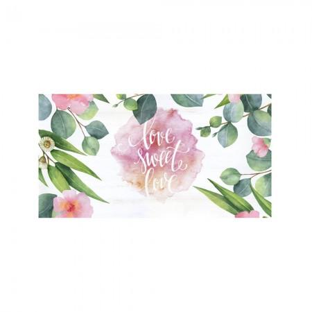 Cabeceira de decapagem 'plantas de aguarela amor'