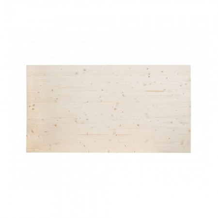 Cabeceira de madeira de abeto natural