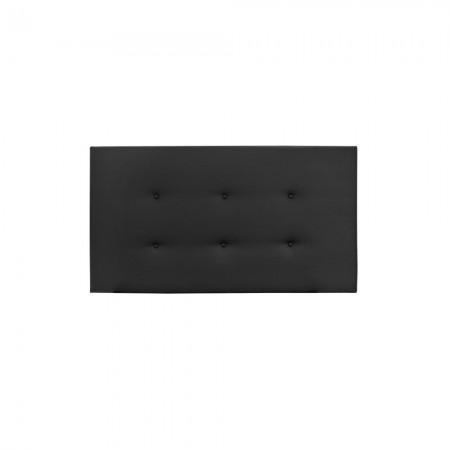 Cabeceira de polipele preta com botões
