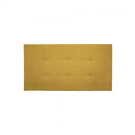 Cabeceira poliester botões amarelo mostarda