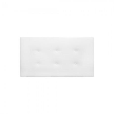 Cabeceira de polipele branca com botões