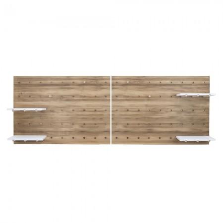 Cabeceira de madeira envelhecida painel de ferramemtas