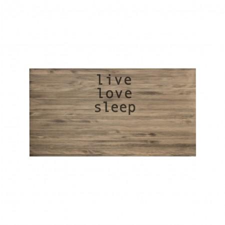 Cabeceira envelhecida live love sleep