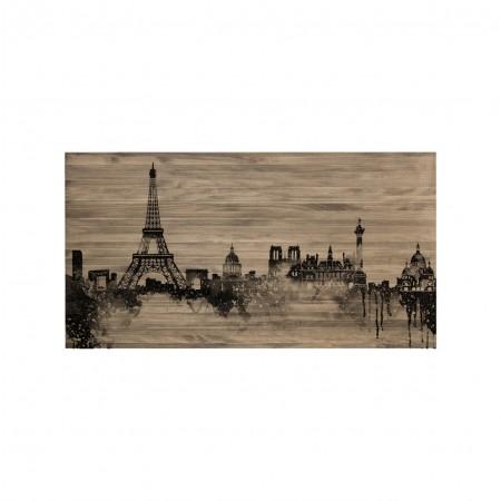 Cabeceira envelhecida skyline Paris