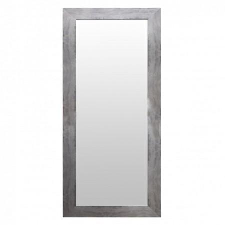 Espelho de madeira de prata